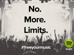 Auch Gratisnutzer können über Spotify jetzt zeitlich unbegrenzt Musik streamen (Bild: Spotify).