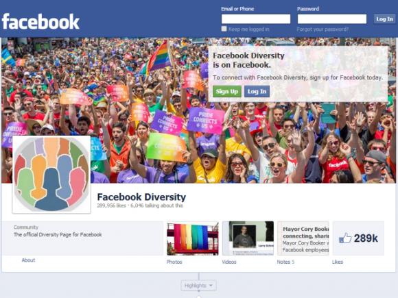 Facebook hat die Änderungen bei den Geschlechtskategorien auf seiner Diversity-Seite angekündigt (Screenshot: ZDNet).