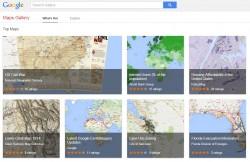 Kartensammlung Google Maps Gallery (Screnshot: ZDNet)