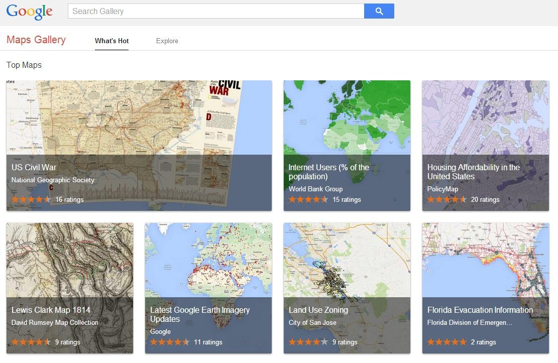 Google führt Kartenarchiv Maps Gallery ein | ZDNet.de on