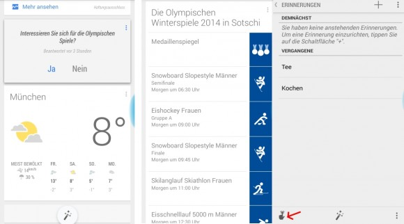 Google Now zeigt Olympia-Infos an