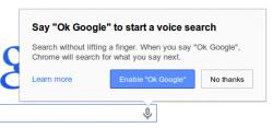 Sprachsuche in Chrome Desktop (Screenshot: Google)