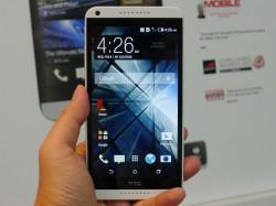 Das Desire 816 übernimmt das Design des HTC One, besitzt aber ein Plastikgehäuse (Bild: Aloysius Low/CNET).