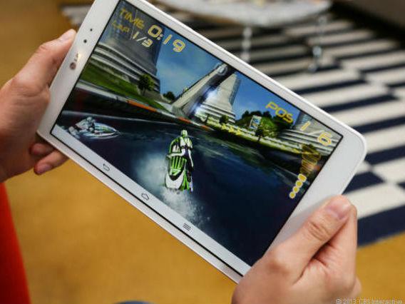 Das LG G Pad 8.3 Google Play Edition ist das Gerät, das einem Nexus 8 aktuell am nächsten kommt (Bild: CBS Interactive).