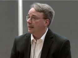 Linus Torvalds  (Screenshot: Stephen Shankland/CNET)