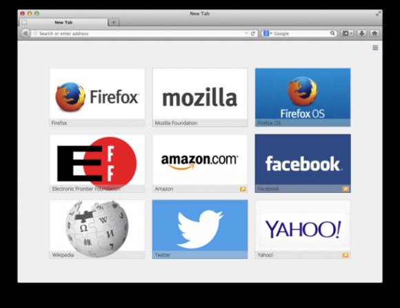 """Mozilla will zumindest neuen Firefox-Nutzer künftig auf der Seite """"Neuer Tab"""" Werbung präsentieren (Bild: Mozilla)."""
