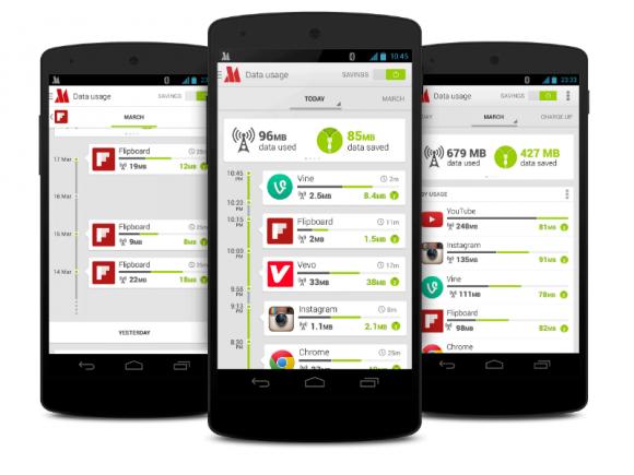 Opera Max soll den von Android-Apps erzeugten Datenverkehr verringern helfen (Bild: Opera).