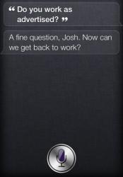 Auf einige Fragen hat Siri keine richtige Antwort (Screenshot: CNET.com).