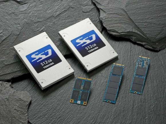 Die SSD-Reihe HG6 umfasst neben 2,5-Zoll-Modellen auch Steckmodule in den Formfaktoren mSATA und M.2 (Bild: Toshiba).
