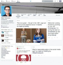 Experimentelles Twitter-Layout (Screenshot: Mashable)