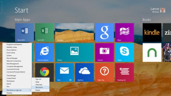 Vereinfachtes Herunterfahren in Windows 8.1 Update 1 (Screenshot: News.com)