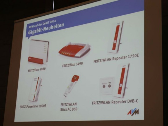 AVMs CeBIT-Neuvorstellungen im Überblick (Bild: Peter Marwan/ZDNet.de)