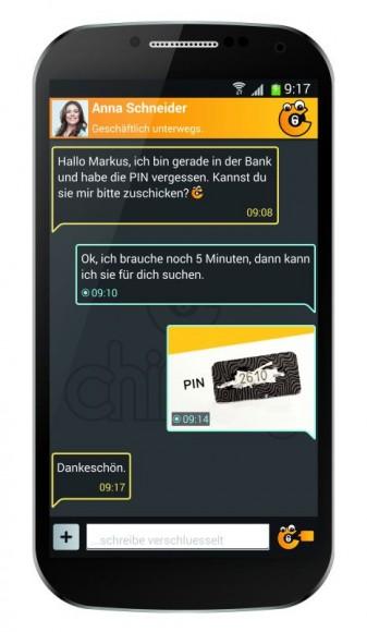 Chiffry ermöglicht sicheren Austausch von Nachrichten, Bildern, Videos oder Kontakten und abhörsichere Telefonie (Bild: Digitrade).