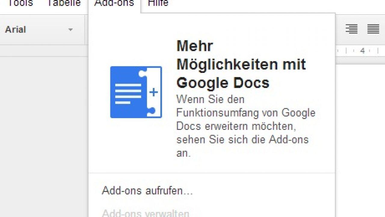 Google Ermöglicht Erweiterungen Für Docs Und Sheets Zdnetde