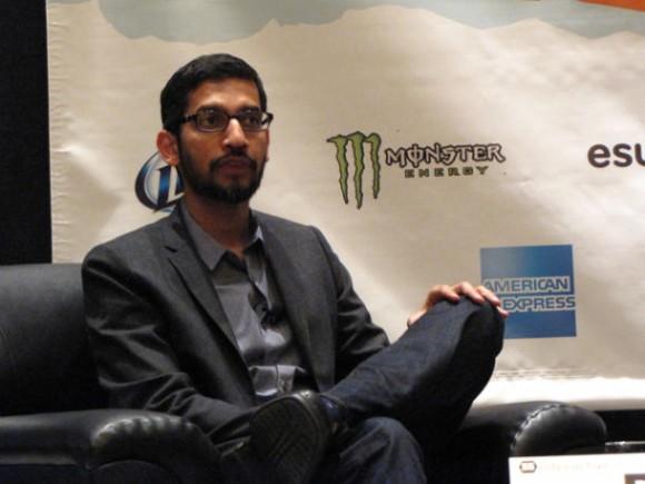 Sundar Pichai, Senior Vice President für Android, Apps und Chrome bei Google, hat auf der Konferenz South by Southwest ein SDK für Android-Wearables angekündigt (Bild: Daniel Terdiman / CNET).