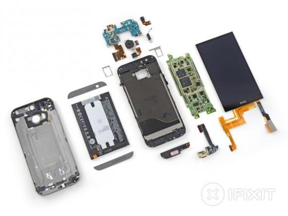iFixit hat das neue HTC One - mit viel Mühe - zerlegt (Bild: iFixit).
