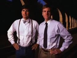 Steve Jobs (links) und John Sculley (Bild: ZDNet.com)