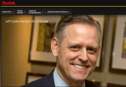 Kodak stellt Jeff Clarke auf seiner Website als neuen CEO vor (Screenshot: ZDNet)