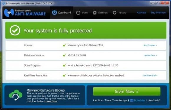 Malwarebytes bietet Käufern von Anti-Malware Premium lebenslangen Support für Windows XP (Screenshot: ZDNet.com).