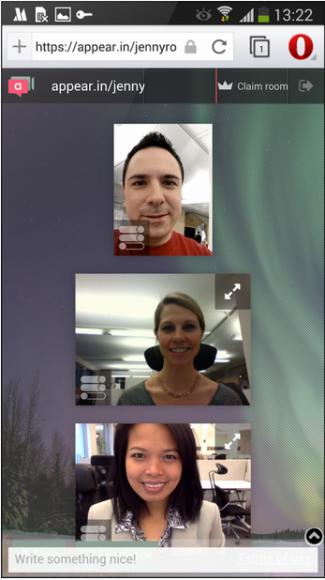 Dank WebRTC-Support lassen sich jetzt direkt aus Opera Videochats führen (Bild: Opera).