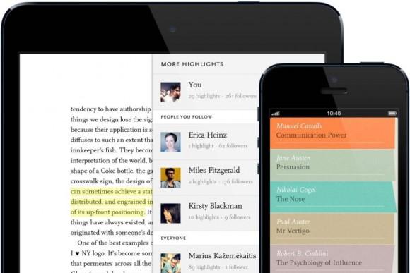 Die Readmill-App war für Android, iPhone und iPad verfügbar (Bild: Readmill).