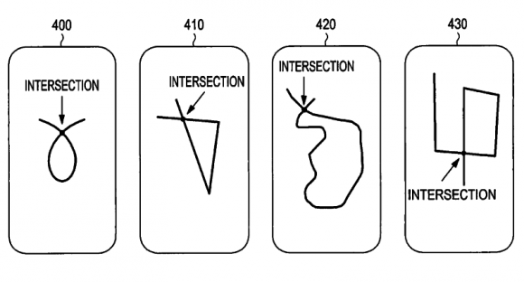 Form und Größe der Zeichnung spielen bei Samsungs Entsperrmethode keine Rolle (Bild: Samsung/ US Patent and Trademark Office).