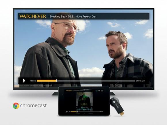Hierzulande unterstützt unter anderem das Videoportal Watchever Chromecast (Bild: Watchever).