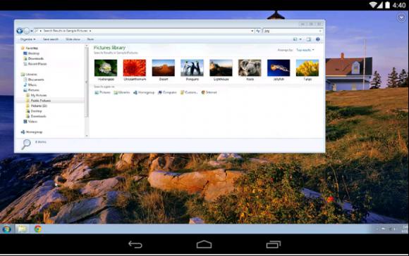 Chrome Remote Desktop auf Android (Bild: Google)
