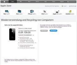 Apple arbeitet beim Wiederverwendungs- und Recyclingprogramm mit Dataserve zusammen (Screenshot: CNET.de)
