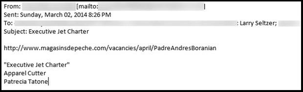 Android-Malware-Spam-Kampagne (Screenshot: ZDNet.com)