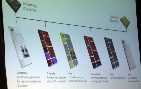Google macht bunte Gestaltungsvorschläge für Ara-Smartphones (Bild: Seth Rosenblatt / CNET).