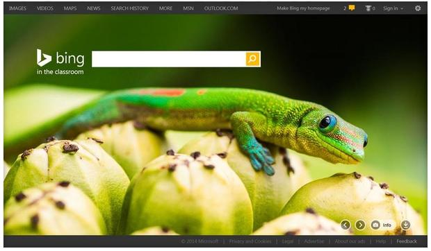 Bing in the Classroom (Screenshot: Microsoft)
