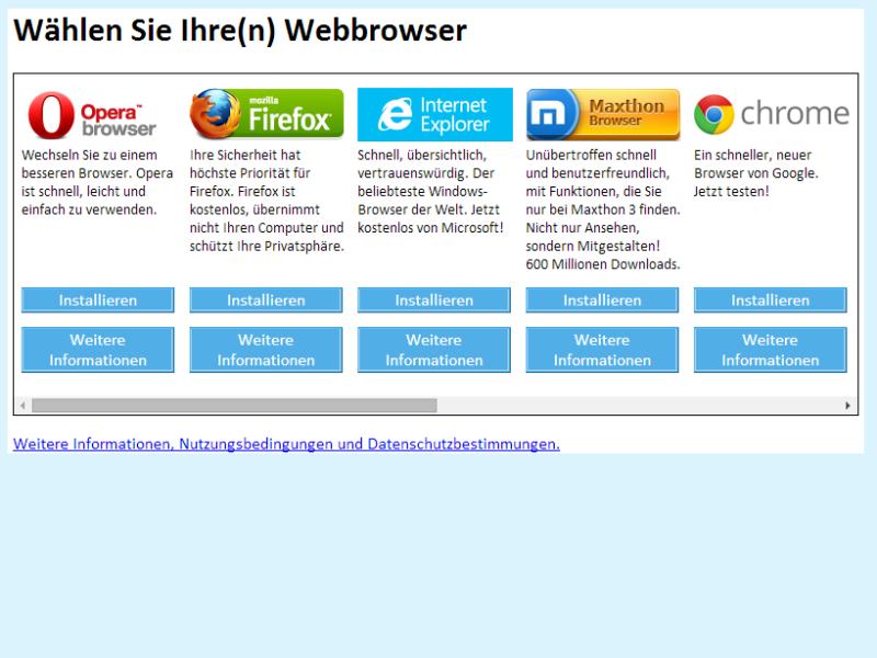 Android bald mit Auswahlbox für Browser und Suchmaschine