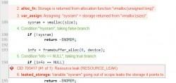 Beispiel für einen Scan von Coverity (Screenshot: Coverity)