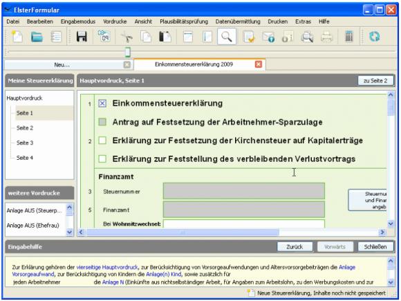 "Die Software ElsterFormular steht unter <a href=""https://www.elster.de/elfo_home.php"" target=""_blank"">elster.de</a> kostenlos zum Download bereit (Screenshot: ZDNet.de)."