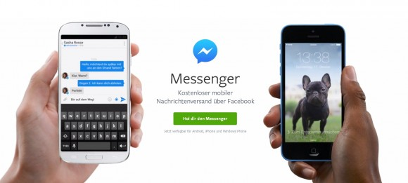 Facebook präsentiert Messenger (Screenshot: ZDNet)