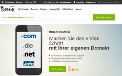 Der amerikanische Internet Service Provider GoDaddy bedient nun auch deutsche Kunden (Screenshot: ZDNet.de).