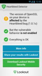 Heartbleed Detector auf Sony Xperia Pro mit CM10 (Screenshot: ZDNet)
