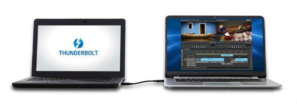 Per Thunderbolt Networking lassen sich bald Macs und PCs direkt miteinander verbinden (Bild: Intel).