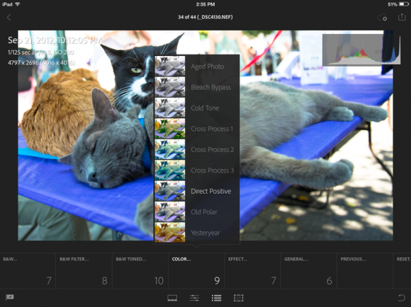 Lightroom Mobile ist ab sofort für Apples iPad verfügbar (Bild: Lori Grunin/CNET).