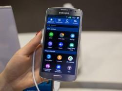 Tizen OS auf einem Smartphone-Prototyp von Samsung (Bild: Andrew Hoyle/CNET)