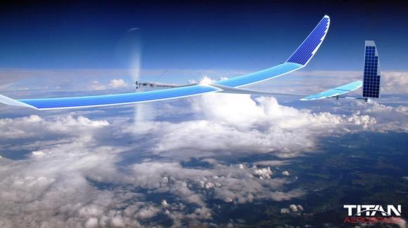 Solera 50 verfügt über eine Flügelspannweite von rund 50 Metern (Bild: Titan Aerospace).