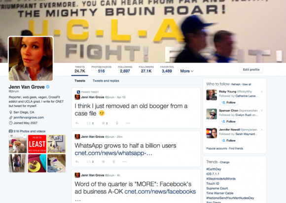 Twitters neues Profil-Design (Screenshot: Jennifer Van Grove / CNET)