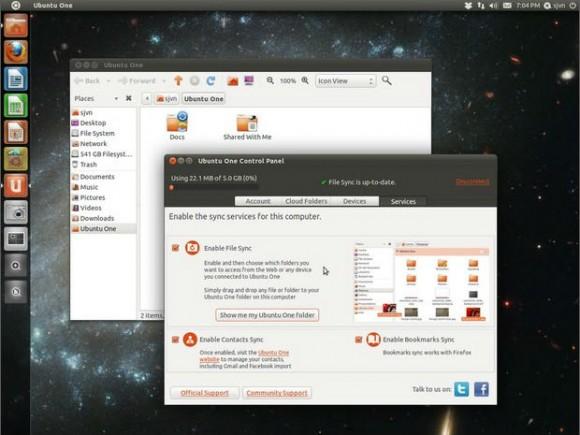 Aufgrund zu starker Konkurrenz stellt Canonical seinen Cloudspeicherdienst Ubuntu One ein (Screenshot: Steven J. Vaughan-Nichols/ZDNet.com).