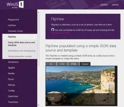 WinJS im Einsatz (Screenshot: Microsoft)
