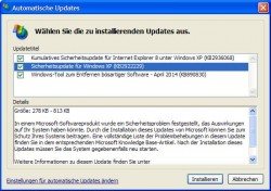 Windows XP: offiziell letztes Update