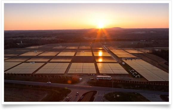 Apples Solaranlage in Maiden, North Carolina (Bild: Apple)