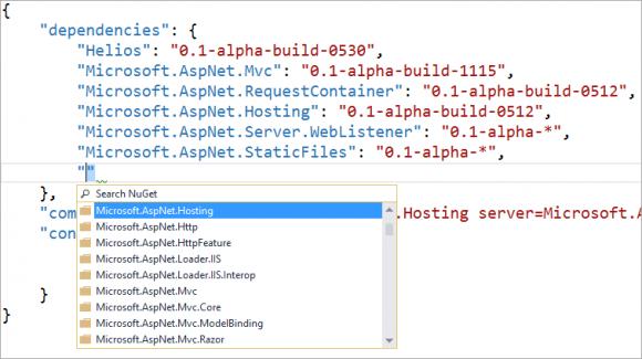 ASP.NET vNext im Einsatz (Screenshot: Microsoft)
