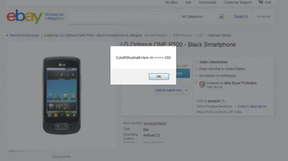 Ebay XSS (Bild: ZDNet.com)