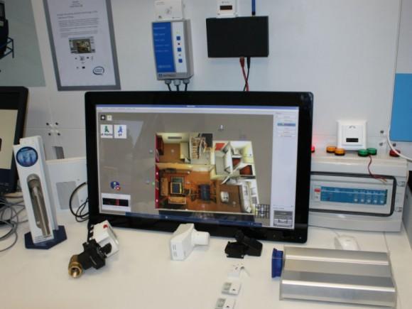 Enocean zeigte bei der Eröffnung von Intels IoT-Labs in Feldkirchen unter anderem einen intelligenten Fenstergriff und eine selbstlernende Heizungssteuerung (Bild: ITespresso).